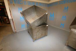 "S/S Single Wall Totes, Internal Dims.: Aprox. 47-1/2"" L x 39-1/2"" W x 30"" H"