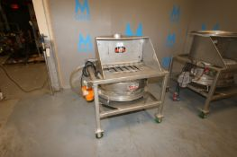 """Kason S/S Screener,Screen Dia.: Aprox. 29"""" Dia., with Side Mounted Kason Motor, with (2) Spare"""