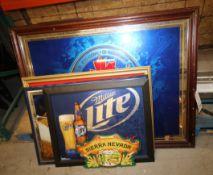 Lot of (5) Beer Prints, Includes Labatt Blue,Miller Lite, Hi Life & Sierra Nevada (INV#78222)(