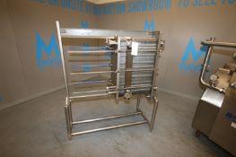 APV 2-Section Plate Heat Exchanger,M/N VO17 R-14, S/N G2011000086, Max. Working Pressure 150 PSIG,