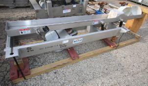 "Key Iso - Flo 10 ft L x 8"" W S/S Vibratory Conveyor , Model 417331 - 1, SN 96 - 16301 - 2 (INV#"