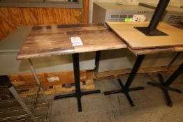"Lot of (7) 31"" L x 24"" W x 40"" H Cafe Tables(INV#78216)(Located @ the MDG Showroom - Pgh., PA)("