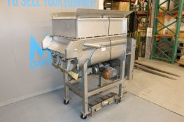 E-Quip 500 lb. Dual Paddle Blender, M/N 301, Factory No.: 11148, with (2) Motors, with S/S Cage Top