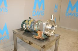 """Fristam Aprox. 10 hp Centrifugal Pump, S/NFP17320203057, with Aprox. 2"""" x 3"""" Clamp Type Inlet/"""