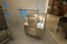 Gaulin Model MF18 S/S Homogenzier,S/N 5611435,with 3TBS 3000 PSI tapered seat ball valve