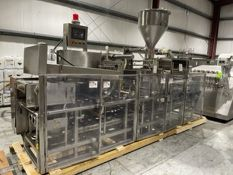 Osgood 3-Lane In-Line S/S Cup Filler,M/N 3600E, S/N 29-445.A, Set Up with 3.5: W On-Board Change