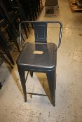 """Lot of (14) 30"""" H Steel Stools with Back Supports(INV#78217)(Located @ the MDG Showroom - Pgh.,"""