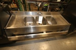 """Eagle 60"""" 3 - Bowl S/S Sink with Faucet(INV#78229)(Located @ the MDG Showroom - Pgh., PA)(Rigging,"""