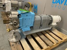 """Waukesha 3 hp Positive Displacement Pump,with Aprox. 3-1/2"""" Thread Type Inlet/Outlet, with Baldor"""