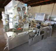 """Adamatic 8-Pocket Sheeter and Molder with 6 Rollers, 45"""" W Belt, Mounted Flour Duster, (Aprox."""