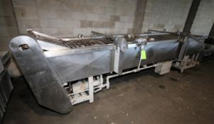 "Dawn Bakery Equipment Donut S/S Fryer Model DE614W, SN 7726 0981, 14 ft L x 35"" W with 25"" W"