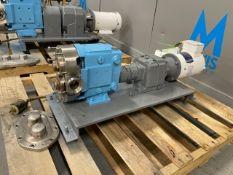 Waukesha Cherry-Burrell 1 hp Positive DisplacementPump, M/N 020 09, S/N 1000002314337, with Baldor