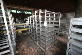 """(3) Portable S/S Racks with (8) Positions,Overall Dims.: Aprox. 39"""" L x 37"""" W x 75"""" H, Includes (23)"""