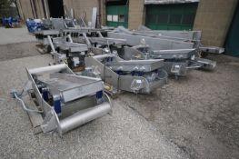 Key Iso-Flo S/S Shaker Decks,M/N SH01-00737, S/N W1019180-006468, W1019178-006467, & W1019178-