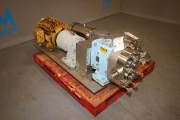 WCB 15 hp Positive Displacement Pump,M/N 130, S/N 265820 00, with Baldor 1700 RPM Motor, 230/460