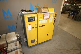 Kaeser Sigma 25 hp Air Compressor,M/N AS 25, S/N 1370, 125 PSIG, 208/230/460 Volts, 3 Phase, with