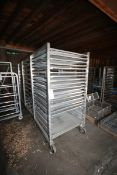 "(3) S/S Portable Screen Carts,with (12) & (23) Positions, Overall Dims.: Aprox. 39"" L x 40"" W x"