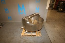 "S/S Single Wall Balance Tank,Aprox. 100 Gal., Tank Dims.: Aprox. 15"" H x 45"" Dia., Mounted on S/S"