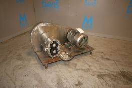 "Tri-Clover 5 hp Positive Displacement Pump,with Aprox. 2-1/2"" Clamp Type Inlet/Outlet, with Reliance"
