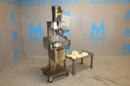Colborne Dough Press, M/N EGS, S/N 399 92, 208V,3 Phase, with Baldor 5 hp Motor, 1725 RPM, Mounted