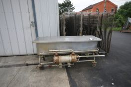 "S/S Jet Spray COP Traugh, with On Board HeatExchanger, Overall Dims.: Aprox. 80"" L x 38"" W x 37"" H"