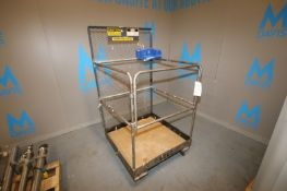 "Ballymore 500 lbs. Forklift Man Cage,Overall Dims.: Aprox. 3' L x 3' W x 67"" H, Mounted on Wheels ("