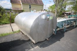 Mueller Aprox. 500 Gal. S/S CIP Oval Tank, Freon Jacketed with Top Man Door, with Tank Master