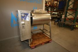 """Leland Southwest S/S Vacuum Tumbler,Chamber Dims.: Aprox. 38"""" L x 26"""" Dia., Mounted on S/S Frame ("""