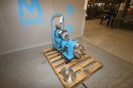 Waukesha Aprox. 5 hp Positive Displacement Pump,Size 125, S/N D34775SS, with S/S Impellers & S/S