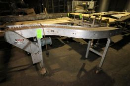 """94"""" L x 12"""" W x 39"""" H S Configuration AluminumConveyor, with Plastic Chain, Drive, Mounted on"""