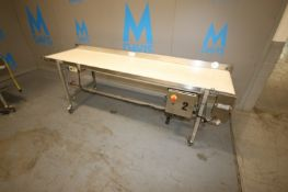 MK North America Straight Section of Conveyor,with S/S Back Splash, Overall Dims.: Aprox. 8' L x
