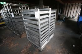 """(1) Portable S/s Bakery Rack with (11) Positions,Overall Dims.: Aprox. 49"""" L x 32"""" W x 64"""" H,"""