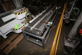 Straight Section of Power Conveyor,with Guide Rails & Rubber Belt (INV#74637)(LOCATED IN BRADDOCK,