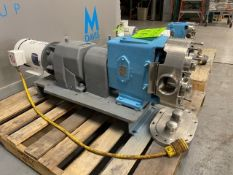 "Waukesha 3 hp Positive Displacement Pump,with Aprox. 3-1/2"" Thread Type Inlet/Outlet, with Baldor"