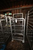 """(2) Assorted Portable Aluminum Racks,(1) Bosio with (32) Positions, Aprox. 31"""" L x 36"""" W x 76"""" H, ("""