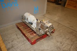 AMPCO 8/4 hp Positive Displacement Pump,M/N ZP1-130-SO, S/N CC-122774-1-1, with 1765 RPM Motor,