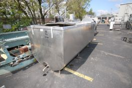 Sunset  Milk Cooler 1,000 Gal. S/S Farm Tank, Hinged Lid, M/N MC-1000PX, S/N 35MC689, with Freon
