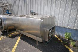 Mueller 700 Gal. S/S Farm Tank,M/N M, S/N 70770, with Freon Jacket, Bottom Sweep Agitation with 1/