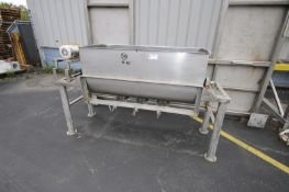 """Single Wall S/S Ribbon Blender,Compartment Dims.: Aprox. 60"""" L x 24"""" W x 27-1/2"""" H, with Drive,"""