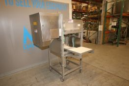 GMC Tu-Way Automatic Cheese Portioner,with S/S Discharge Chute & Push Cylinder, Mounted on S/S