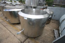 Crepaco Aprox. 200 Gal. Jacketed S/S Tank,S/N 6664, Open Top (INV#68320)(LOCATED IN BRADDOCK, PA--