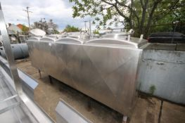 4-Compartment @ Aprox. 200 Gal. InsulatedS/S Flavor Tank, with (3) Agitation Shafts & Sprayball,