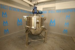 2018 Absolute Unit,(MIC) 1,000 Liter (260 Gallon) Jacketed S/S Kettle, Model G-D1000, SN