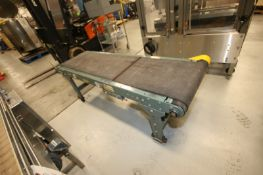 """Hytrol Straight Section of Power Conveyor, with Aprox. 18"""" W Rubber Belt, with Drive, Overall"""