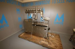 S/S Pail/Bucket Ice Cream Filler,with (2) Pallet of Assorted S/S Parts, Mounted on S/S Portable