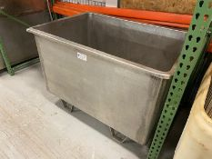 """S/S Single Wall Tote,Internal Dims.: Aprox. 53"""" L x 35-1/2"""" W x 32"""" Deep, Mounted on S/S Legs (INV#"""