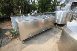 3 Compartment @ Aprox. 50 Gallon, S/S InsulatedFlavor Tank, with Lids, Includes Agitator Shafts, 1.
