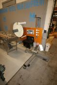 Fusion Labeling Systems Labler, M/N 9800, S/N 9841, with Sato Label Printer, Mounted on Portable