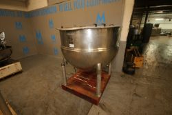 Groen 250 Gal. S/S Kettle,M/N N250SP, Type 316, MAX. W.P. 125 PSI @ 353(INV#80191)(Located @ the MDG