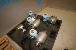 """(4) Endress + Hauser S/S Flow Meter,(3) Aprox. 3"""" Clamp Type & (1) Aprox. 2"""" Clamp Type, with (1)"""